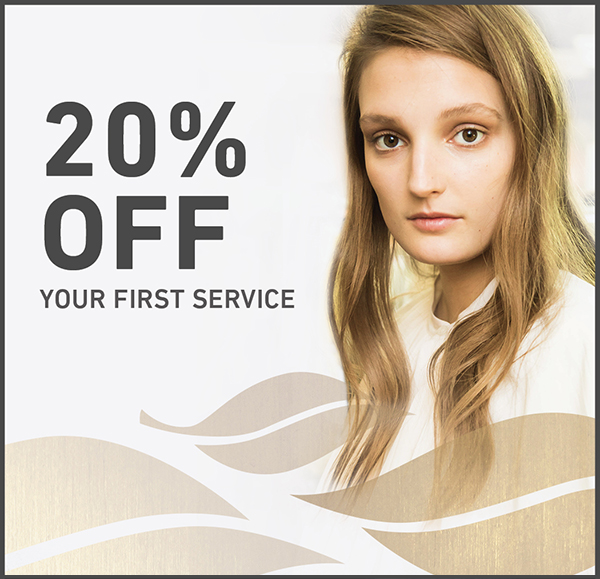 20% off your first service